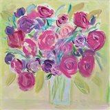 Pink Roses Flower Art Print