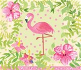 Flamingo Dance I Art Print