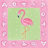 Flamingo Dance II Art Print