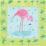 Flamingo Dance III v2 Art Print
