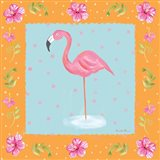 Flamingo Dance IV Art Print