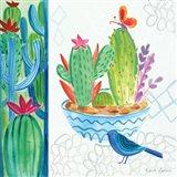 Cacti Garden II Art Print