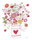 Valentines Flowers I Art Print