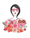 Valentine Chic I no Words Art Print