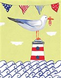 Coastal Bird I Flags Art Print