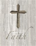 Words for Worship Faith on Wood Art Print