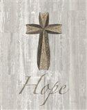Words for Worship Hope on Wood Art Print