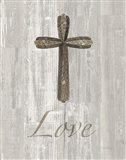Words for Worship Love on Wood Art Print