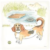 Dog Days of Summer Maggie Art Print
