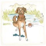 Dog Days of Summer Luna Art Print