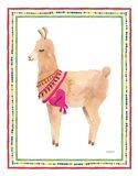 La La Llama IV Art Print