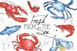 Seafood Shanty I Art Print