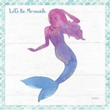 Mermaid Friends III Lets Be Art Print