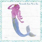 Mermaid Friends IV Fun Art Print