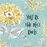 Bee Happy II Linen Art Print