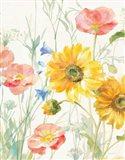 Floursack Florals I No Words Crop Art Print