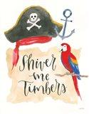 Pirates III on White Art Print