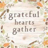 Autumn Offerings I Light Grateful Art Print