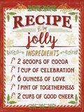 Holiday Recipe III Script Art Print