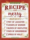 Holiday Recipe IV Script Art Print