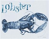 Beach House Kitchen Blue Lobster Art Print
