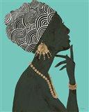 Graceful Majesty I Turquoise Crop Art Print