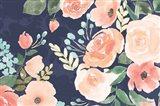 Blooming Delight III Blue Art Print