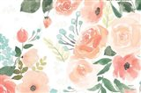 Blooming Delight III White Art Print