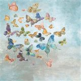 Beautiful Butterflies v3 Square Art Print