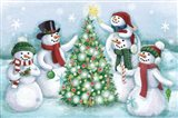 Classic Snowmen IV Dark Art Print