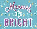 Merry and Bright Aqua Art Print