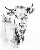 Village Cow Gray Art Print