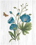 Botanical Bouquet on Wood III Art Print