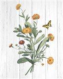 Botanical Bouquet on Wood IV Art Print