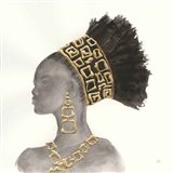 Headdress Beauty II Art Print