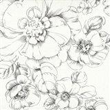 Summer Bloom II BW Art Print