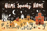 Spooky Village II Art Print