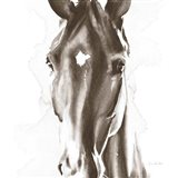 Le Cheval Noir Brown Crop Art Print