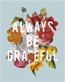Floral Sentiment I Crop Art Print
