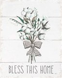 Blessed II Black Bow Art Print