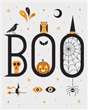 Festive Fright Boo Art Print