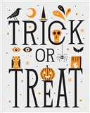 Festive Fright Trick or Treat I Art Print
