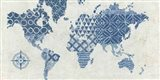 Indigo Gild Map Maki - No Border Art Print