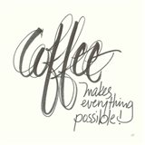 Coffee Sayings IV Art Print