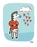 Wild About You Zebra Art Print