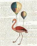 Flying Flamingo Art Print