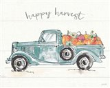 Modern Farmhouse VIII Blue Truck Art Print
