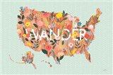 Wild Garden USA Art Print