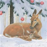 Christmas Critters Bright VIII Art Print