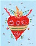 Frida's Heart II Art Print